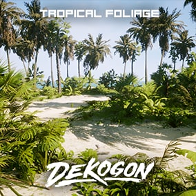 A collection of tropical foliage and landscape assets that can be used for games!