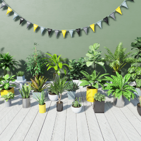 30 tropical houseplants for your interior or exterior archvis display