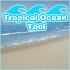 Water shader with crashing waves around islands and underwater effects