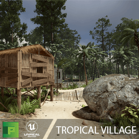 Tropical Village is a high quality nature and modular huts pack with over 230 assets to build a beautiful and lush nature scene.