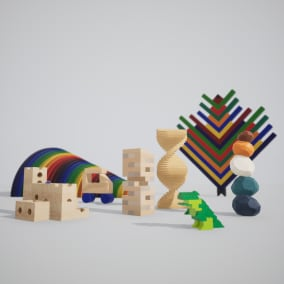 High-quality, detailed building block assets.