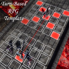 Blueprint Turn-Based RPG Template that provides core functionalities like drag & drop units on the grid, character stats and skills, wave of enemies and boss fights.