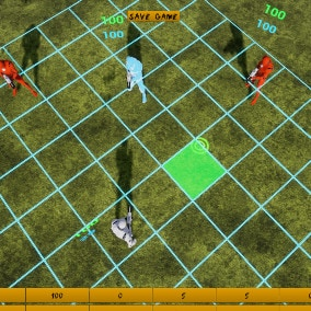 Top down tactical game template with turn based battle system