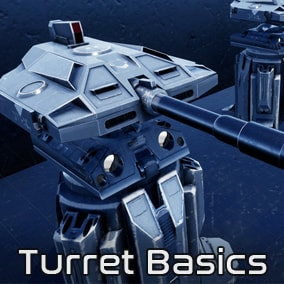Turret Basics is high-quality 3D model and texture set of turret designs and it is animation ready with turret components and correct anchor points.