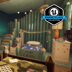 "From developer Giant Sparrow Games and publisher Annapurna Interactive, Edith Finch: Twin's Room is a collection of high quality meshes, textures and materials from the 2017 release, ""What Remains of Edith Finch""."