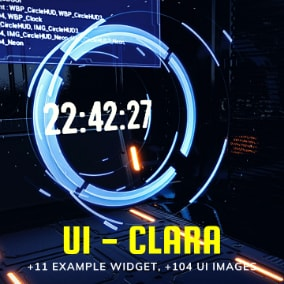 Clara is a fully functional set of UI Pack with +11 example widget and +104 UI images.