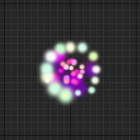 Render sprite particles and ribbons on UI.