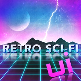 Retro Sci-Fi UI sounds effects library