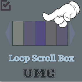 UMG Loop Scroll Box is a scroll box that support an infinite content list scrolling within limit widget items (reused), so as to improve performance.