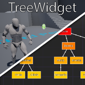 A fully customizable UMG TreeWidget for any kind of task or visualization of data.