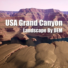 This is the American Grand Canyon landscape made by the satellite digital elevation model
