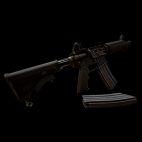 AAA quality M4A1 with VFX, 4K textures, animations, and sounds.