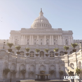 US Capitol Exterior Environment with 186 Unique Meshes