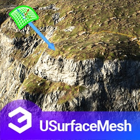The USurfaceMesh plugin can build custom static meshes that blend with any other mesh/landscape. It can also capture the surface mesh height