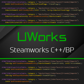 A plugin which provides complete Steamworks integration for both C++ and BP.