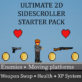 Everything you'd ever need to create your own complete 2D sidescroller!
