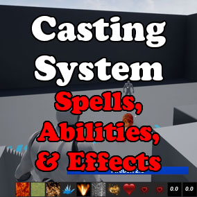 Abilities / Spells / Magic System For Your Fantasy MOBA, MMO, Arena Game! Character Regen / Death and Effects