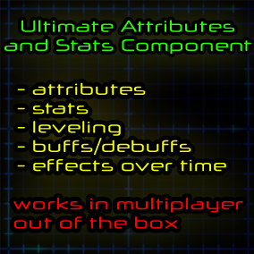 The standalone actor component that provides system to create stats, attributes, leveling, apply buffs and effects over time.