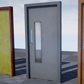 Rigged + Animated Doors with multiple skin variations