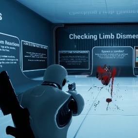 Integrate AAA quality hit reaction systems with limb dismemberment into your projects in minutes. UHRC is your all-in-one tool for dealing damage, playing reaction animations, sounds effects, visual effects, in a few clicks.