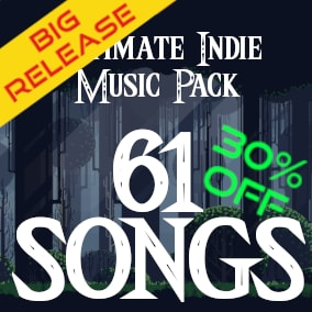 61 songs for your indie game, buy one pack and take three! more than one hour of music for your game