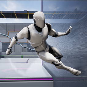 A Parkour System. That allows the player to interact with up to 10 obstacles and perform a set of 81 Parkour Animations. Ready to use.