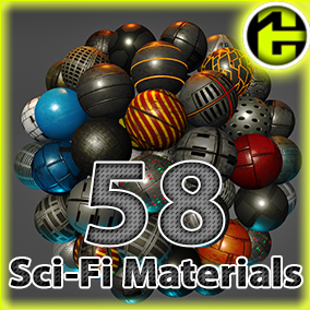 This package contains 57 Sci-Fi Panel Materials.