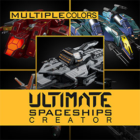 Over 200 spaceships ready for use in your space game.
