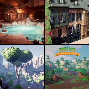 Get Our Best Selling Stylized Environments For A One Time Price!