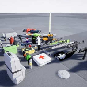 Low Poly Assault Pack for Action Games