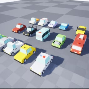 Low Poly Driveable Vehicles