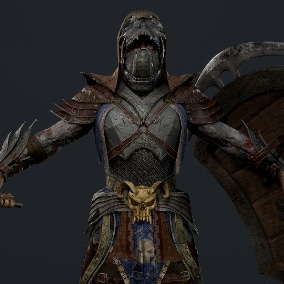 Undead warrior in light armor for any game
