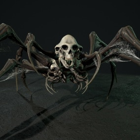 Low-poly game ready model of the character Undeath Spider 2