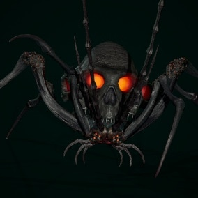 Low-poly game ready model of the character Undeath Spider 3