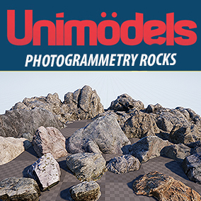 13 photogrammetry rocks low poly