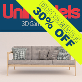 30 high quality sofas and 4 pillows  for real time rendering