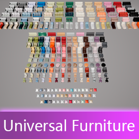 Bigest pack of furniture. All models have 3 LOD for games and HighPoly version for ArchViz.