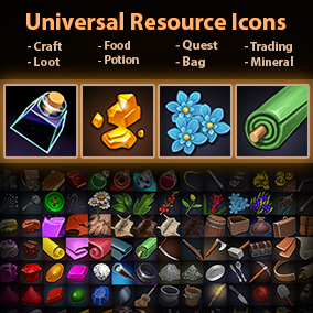 Set of 189 hand drawn Universal Resource Icons