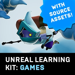 Unreal Learning Kits give you all the pieces, including source assets, to build your own project.