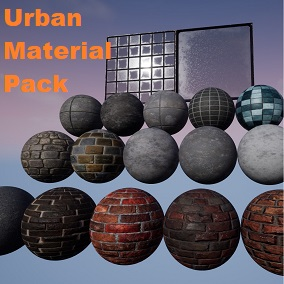 A Pack of 19 Urban / Downtown themed Materials