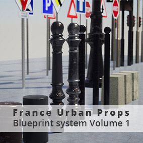 Urban Props France/ European Style, with Blueprint Modular system