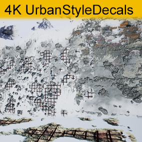 Urban Style Decals with separate control over blending shape and outline center.
