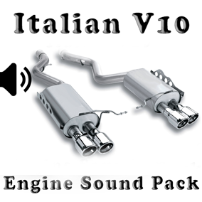 V10 Italian - Engine Sound Pack asset contain engine sound wav files.