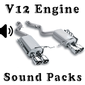 V12 Engine Sound Packs asset contain four engine sound packs.