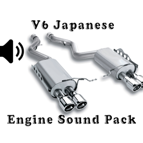 V6 Japanese Engine Sound Packs asset contain two engine sound packs.