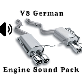 V8 German Engine Sound Packs asset contain four engine sound packs.