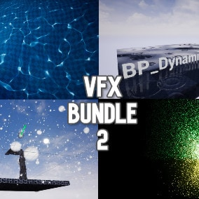 A pack of 121 particle systems, 46 materials, and 18 blueprints of visual effects, including snow, rain, falling leaves, underwater effects and simply beautiful emitters.