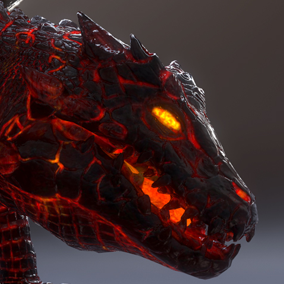 ***Included Inside Upcoming Elemental Dragons Pack*** Here is the Volcano Dragon, Powerful beast living in the guts of the earth. This creature can be perfect as an enemy or a boss in your heroic Fantasy project.