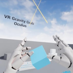 VR Gravity Grab Oculus provides remote grabbing functionality to your VR games. Finger-level precision hand physics is also included as a bonus feature.