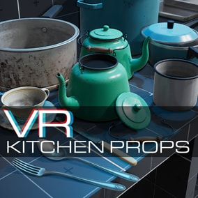 A set of realistic, high fidelity kitchen props created for and tested in VR.
